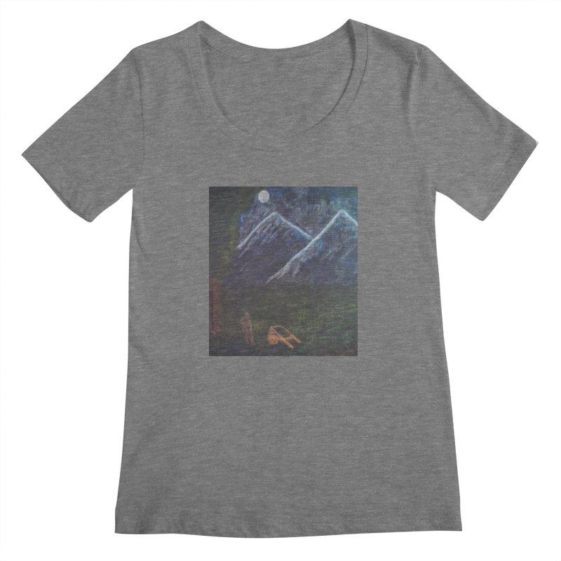 M is for Mountain Women's Scoopneck by brusling's Artist Shop