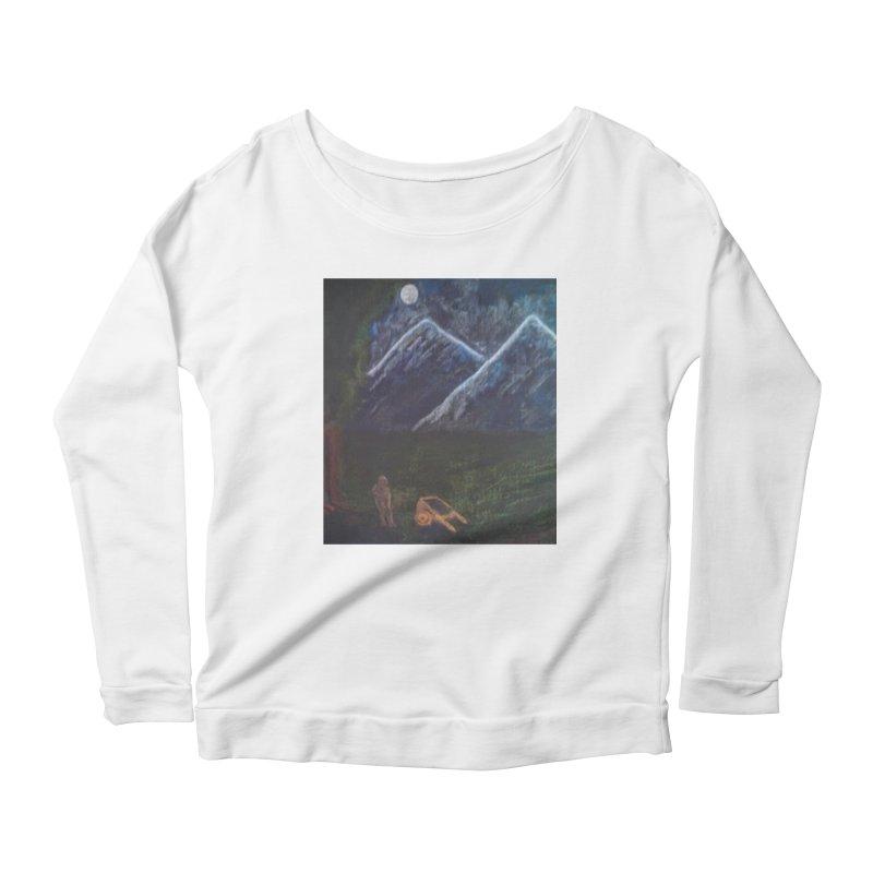 M is for Mountain Women's Longsleeve Scoopneck  by brusling's Artist Shop