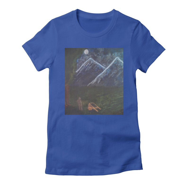M is for Mountain Women's Fitted T-Shirt by brusling's Artist Shop