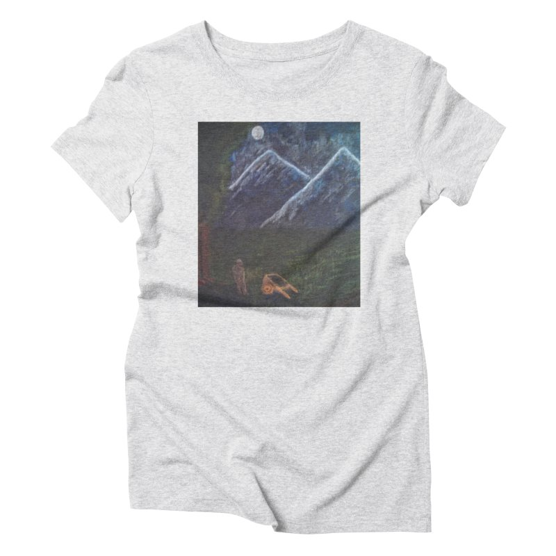 M is for Mountain Women's Triblend T-Shirt by brusling's Artist Shop