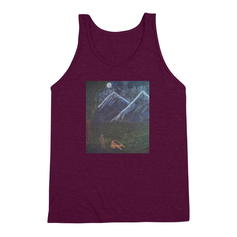 M is for Mountain Men's Triblend Tank by brusling's Artist Shop