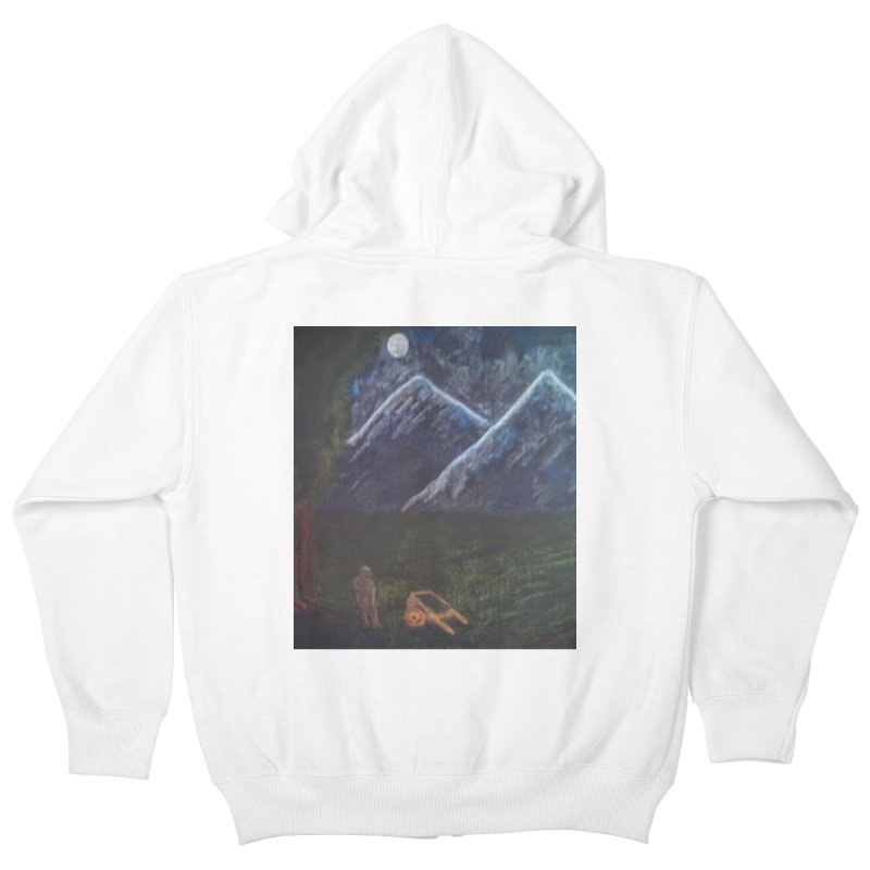 M is for Mountain Kids Zip-Up Hoody by brusling's Artist Shop
