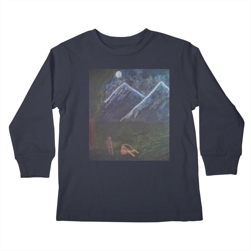 M is for Mountain Kids Longsleeve T-Shirt by brusling's Artist Shop