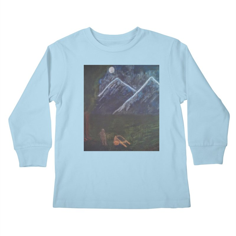 M is for Mountain Kids Longsleeve T-Shirt by brusling's Artist Shop