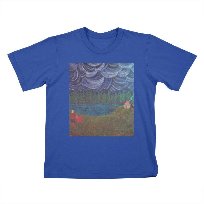 D is for Drummer Kids T-shirt by brusling's Artist Shop