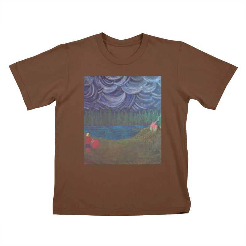 D is for Drummer Kids T-shirt by brusling's Artist Shop