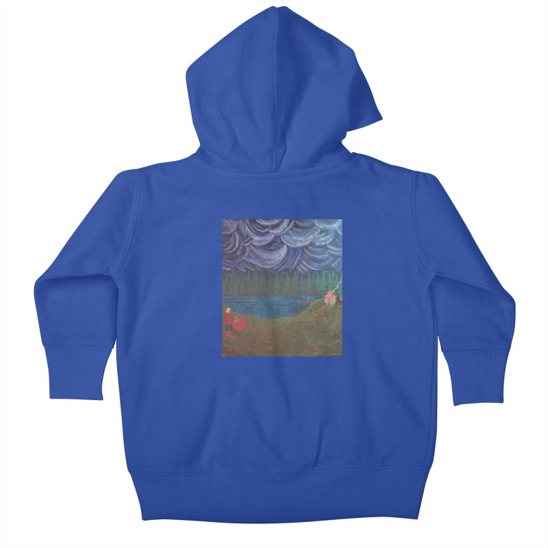 D is for Drummer Kids Baby Zip-Up Hoody by brusling's Artist Shop