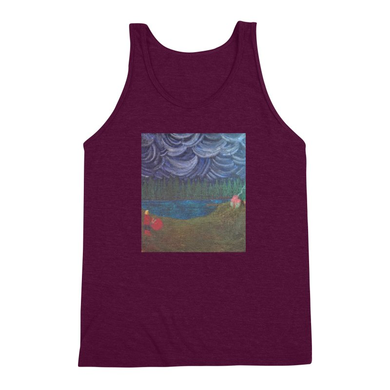D is for Drummer Men's Triblend Tank by brusling's Artist Shop