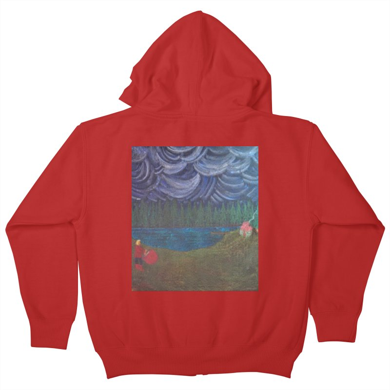 D is for Drummer Kids Zip-Up Hoody by brusling's Artist Shop