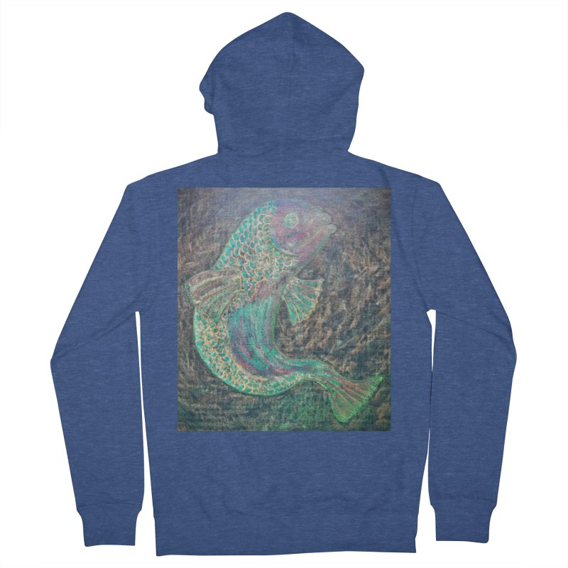 F is for Fish Men's Zip-Up Hoody by brusling's Artist Shop