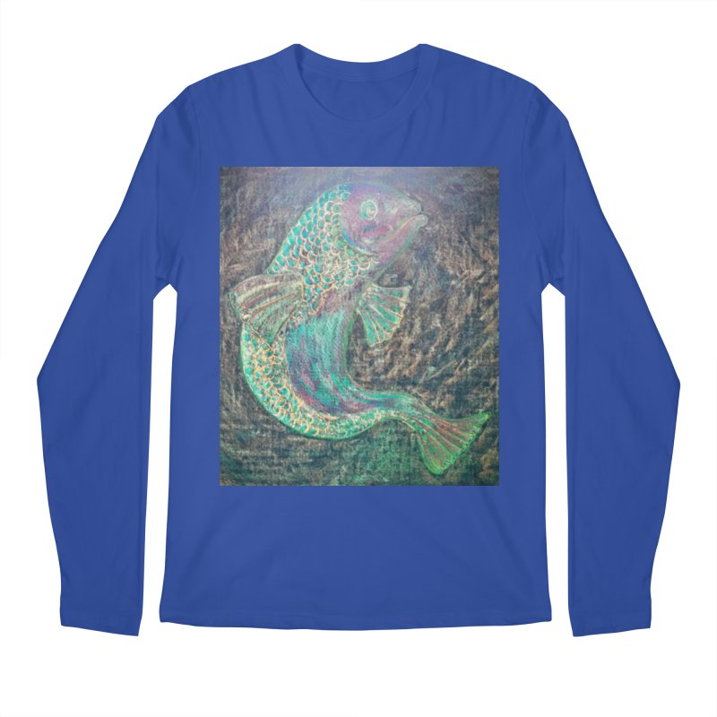 F is for Fish Men's Longsleeve T-Shirt by brusling's Artist Shop