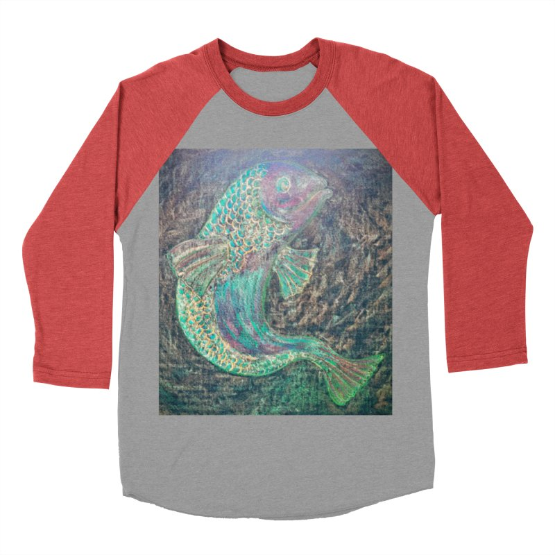 F is for Fish Women's Baseball Triblend T-Shirt by brusling's Artist Shop
