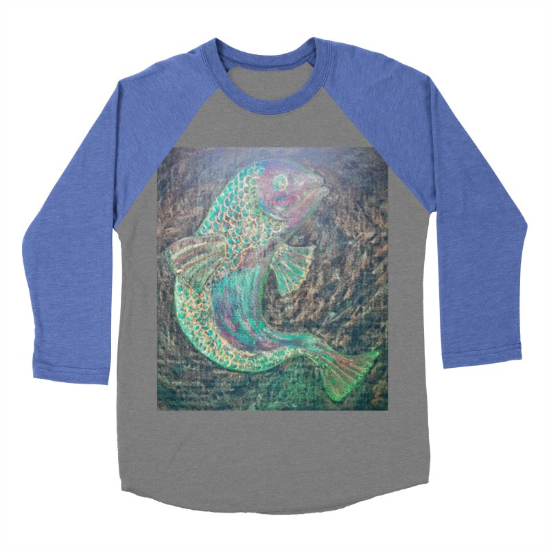 F is for Fish Men's Baseball Triblend T-Shirt by brusling's Artist Shop