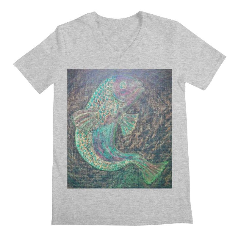 F is for Fish Men's V-Neck by brusling's Artist Shop