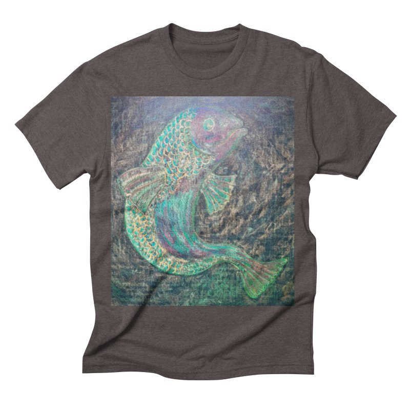 F is for Fish Men's Triblend T-shirt by brusling's Artist Shop