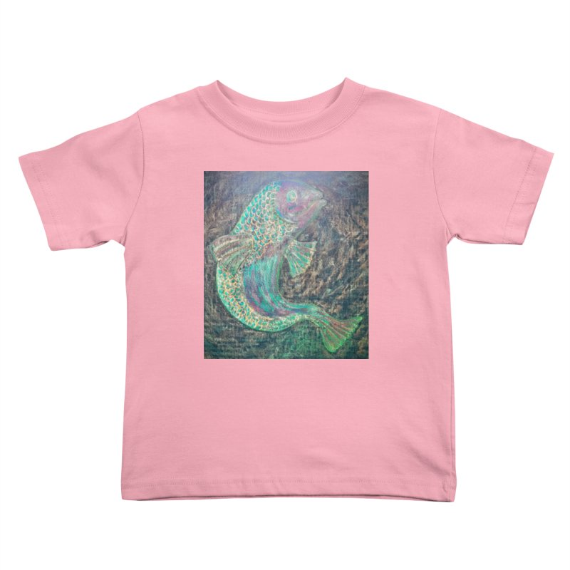 F is for Fish Kids Toddler T-Shirt by brusling's Artist Shop