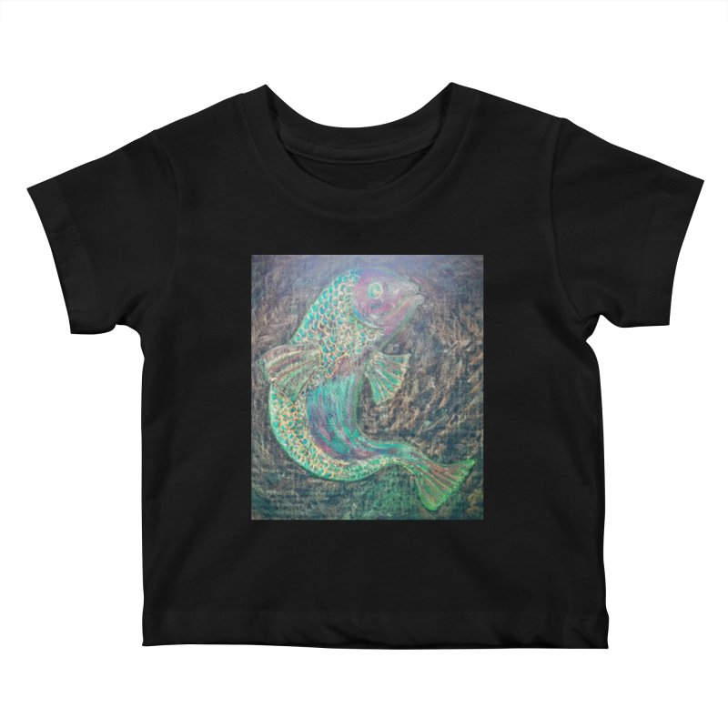 F is for Fish Kids Baby T-Shirt by brusling's Artist Shop