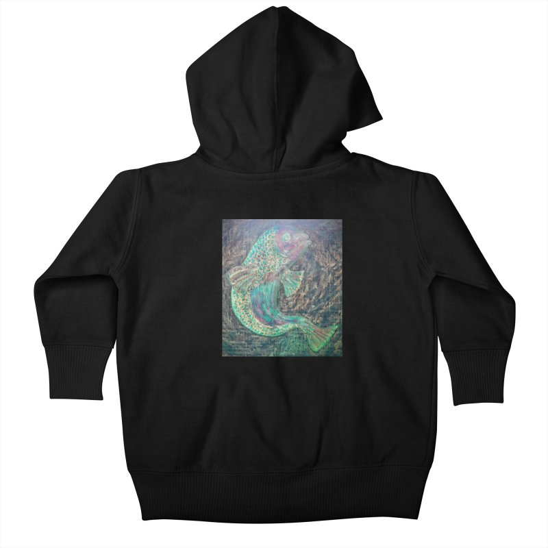 F is for Fish Kids Baby Zip-Up Hoody by brusling's Artist Shop