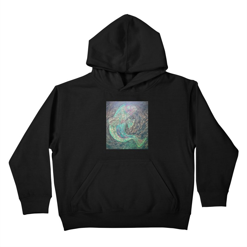 F is for Fish Kids Pullover Hoody by brusling's Artist Shop