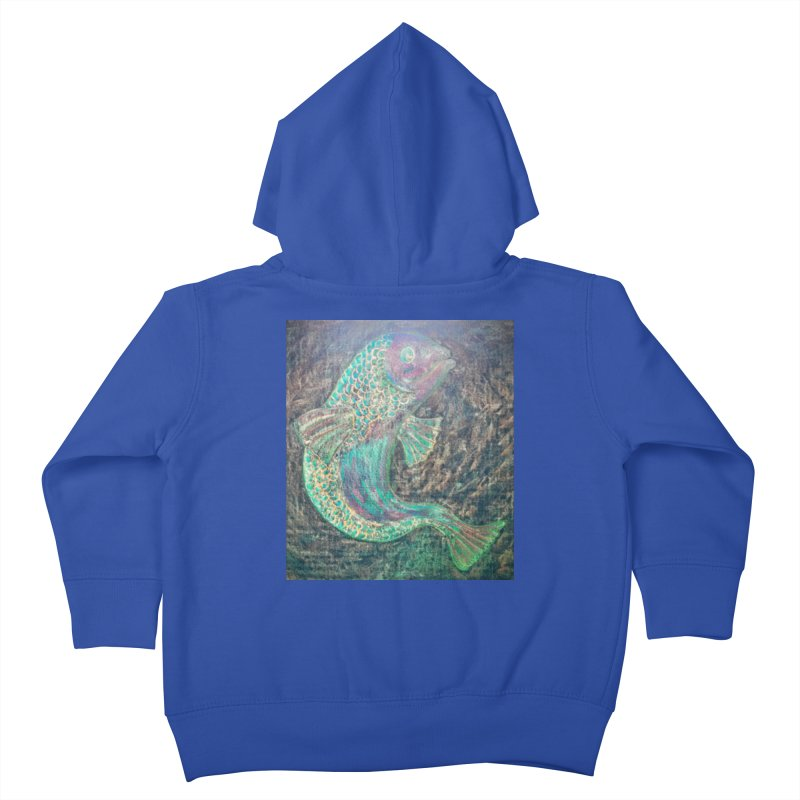 F is for Fish Kids Toddler Zip-Up Hoody by brusling's Artist Shop