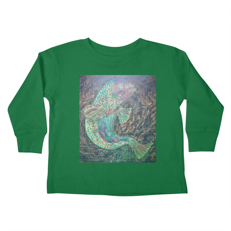 F is for Fish Kids Toddler Longsleeve T-Shirt by brusling's Artist Shop