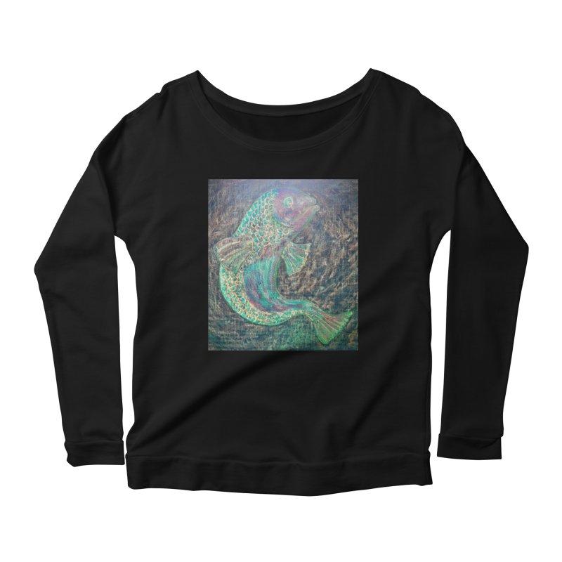 F is for Fish Women's Longsleeve Scoopneck  by brusling's Artist Shop