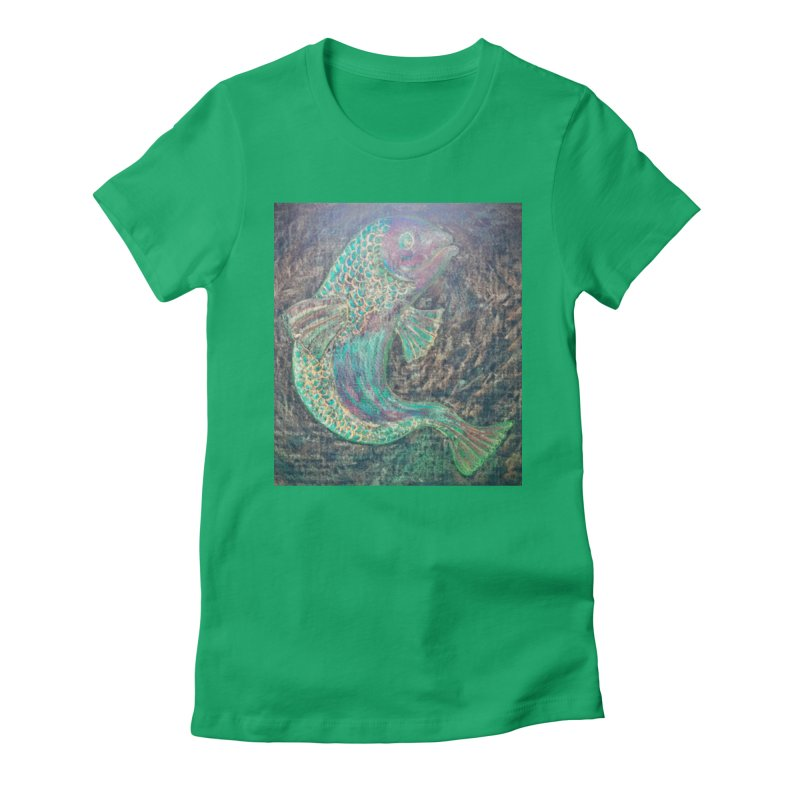 F is for Fish Women's Fitted T-Shirt by brusling's Artist Shop
