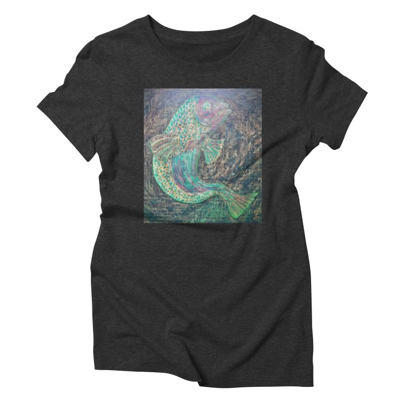 F is for Fish Women's Triblend T-shirt by brusling's Artist Shop