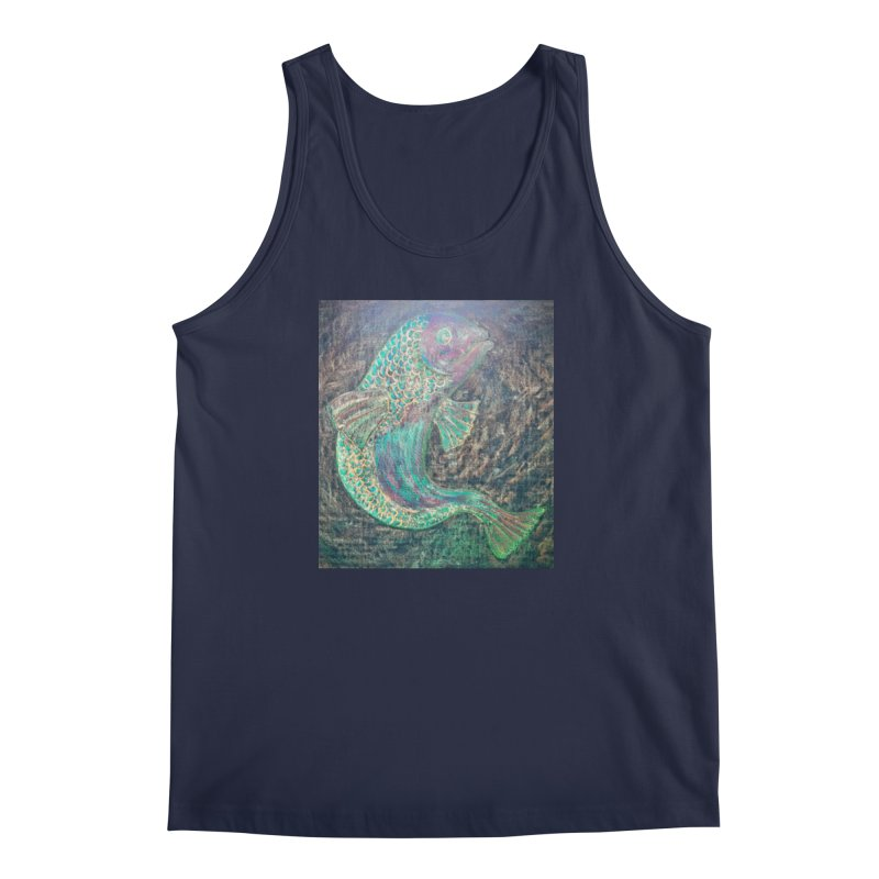 F is for Fish Men's Tank by brusling's Artist Shop