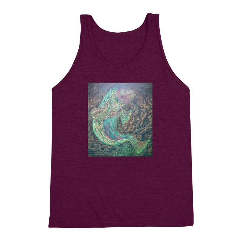 F is for Fish Men's Triblend Tank by brusling's Artist Shop