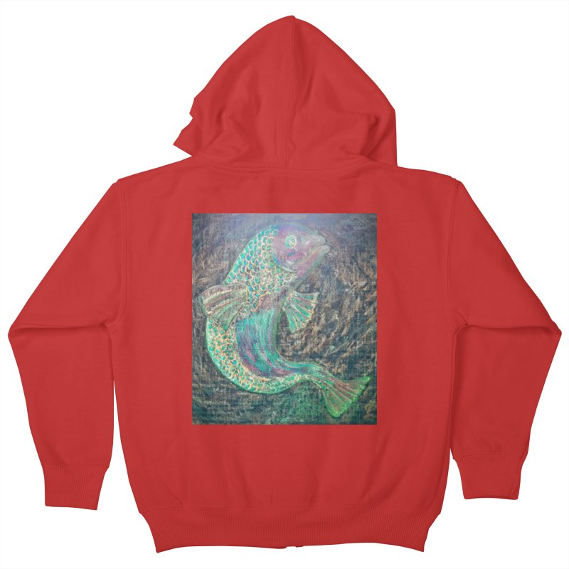 F is for Fish Kids Zip-Up Hoody by brusling's Artist Shop
