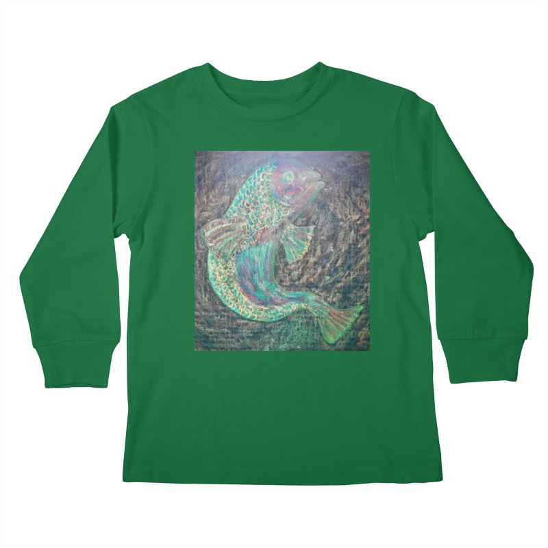 F is for Fish Kids Longsleeve T-Shirt by brusling's Artist Shop