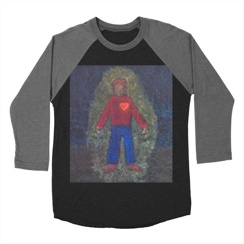 Three for Me Men's Baseball Triblend T-Shirt by brusling's Artist Shop