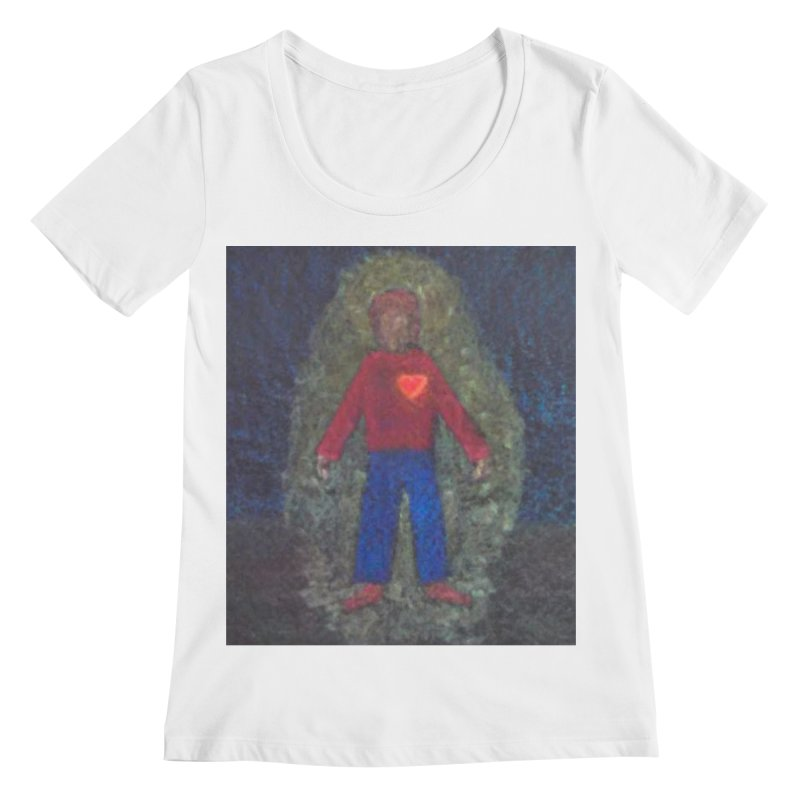 Three for Me Women's Scoopneck by brusling's Artist Shop