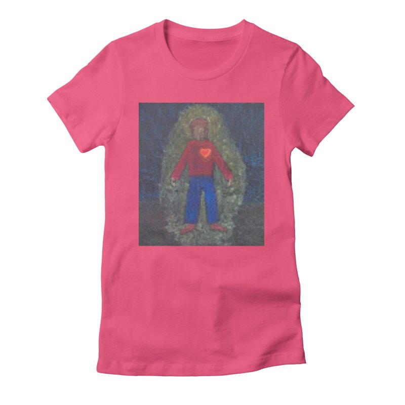 Three for Me Women's Fitted T-Shirt by brusling's Artist Shop