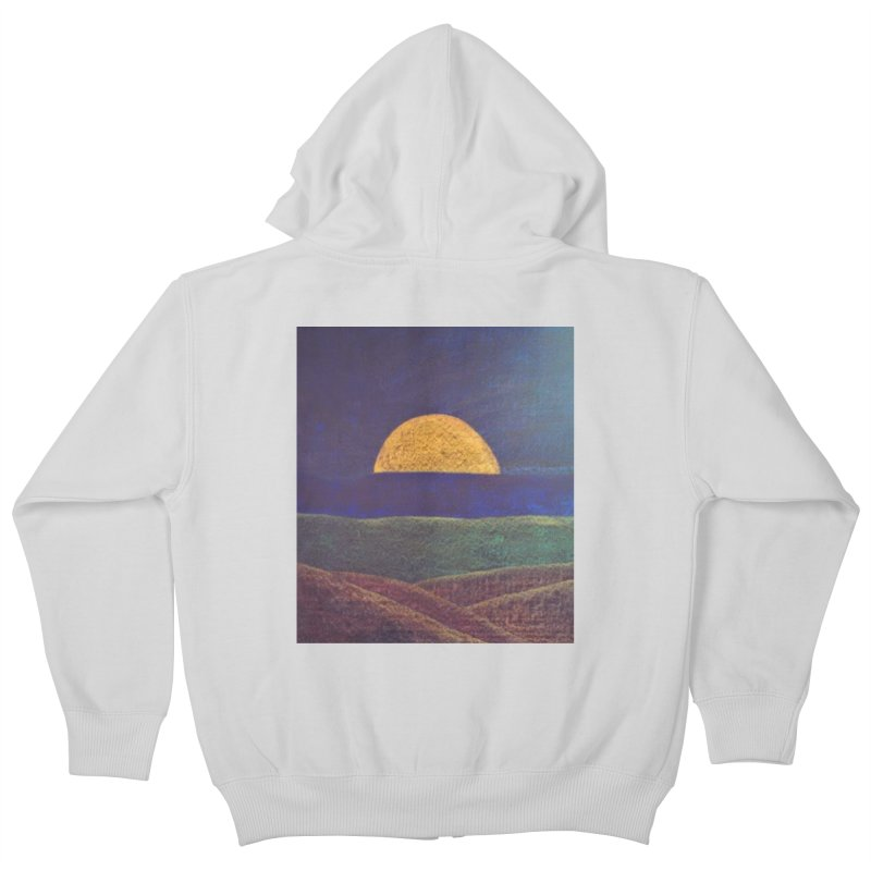 One for the Golden Sun Kids Zip-Up Hoody by brusling's Artist Shop
