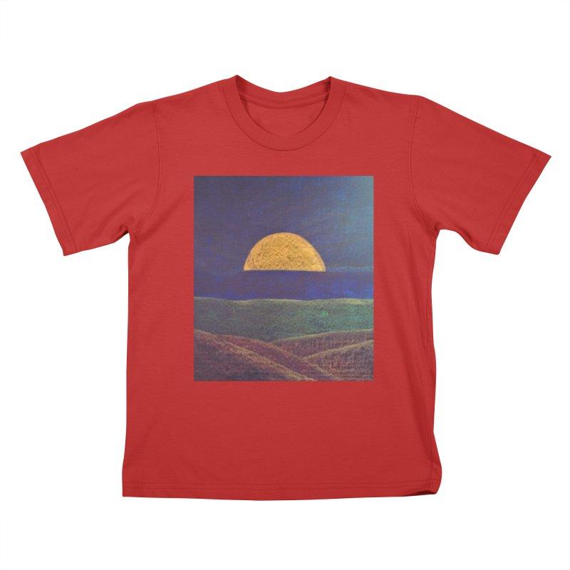 One for the Golden Sun Kids T-Shirt by brusling's Artist Shop