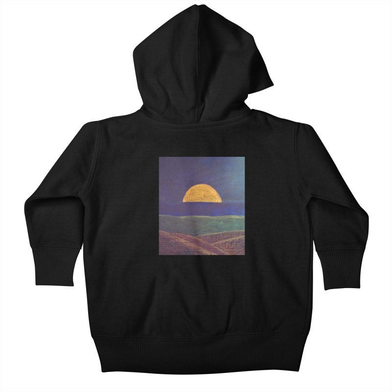 One for the Golden Sun Kids Baby Zip-Up Hoody by brusling's Artist Shop