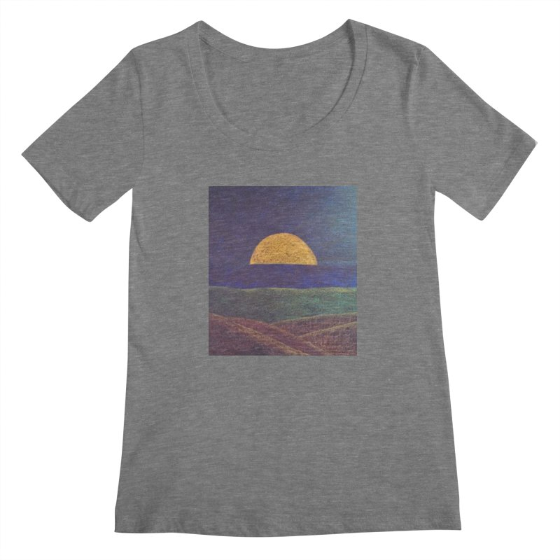 One for the Golden Sun Women's Scoopneck by brusling's Artist Shop
