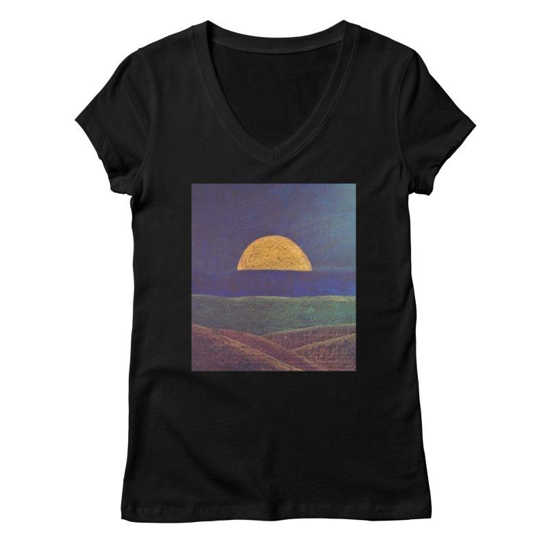 One for the Golden Sun Women's V-Neck by brusling's Artist Shop