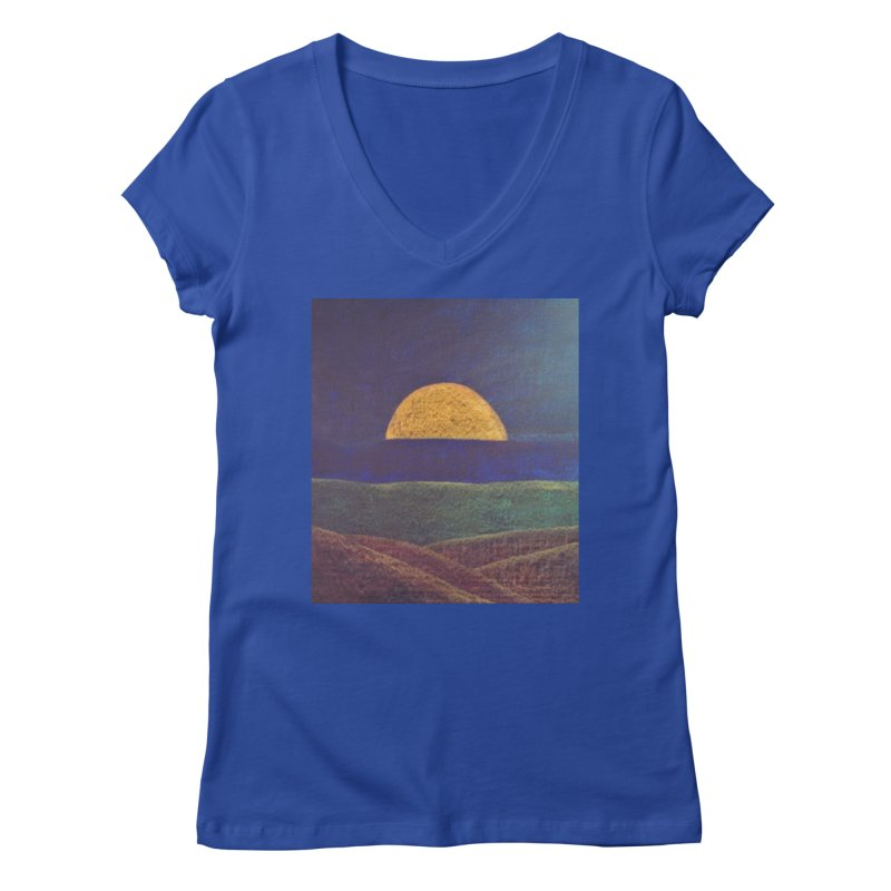One for the Golden Sun Women's V-Neck by brusling's Artist Shop