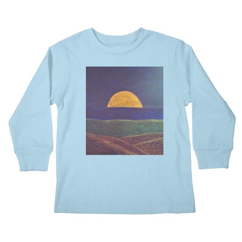 One for the Golden Sun Kids Longsleeve T-Shirt by brusling's Artist Shop