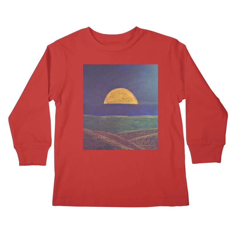 One for the Golden Sun Kids Longsleeve T-Shirt by brusling's Artist Shop