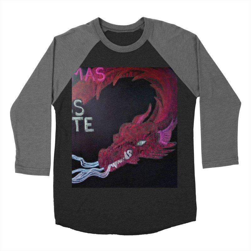 Michaelmas Dragon Men's Baseball Triblend T-Shirt by brusling's Artist Shop