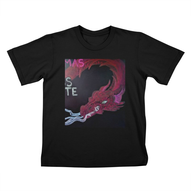 Michaelmas Dragon Kids T-shirt by brusling's Artist Shop