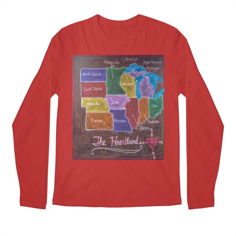 The Heartland Men's Longsleeve T-Shirt by brusling's Artist Shop