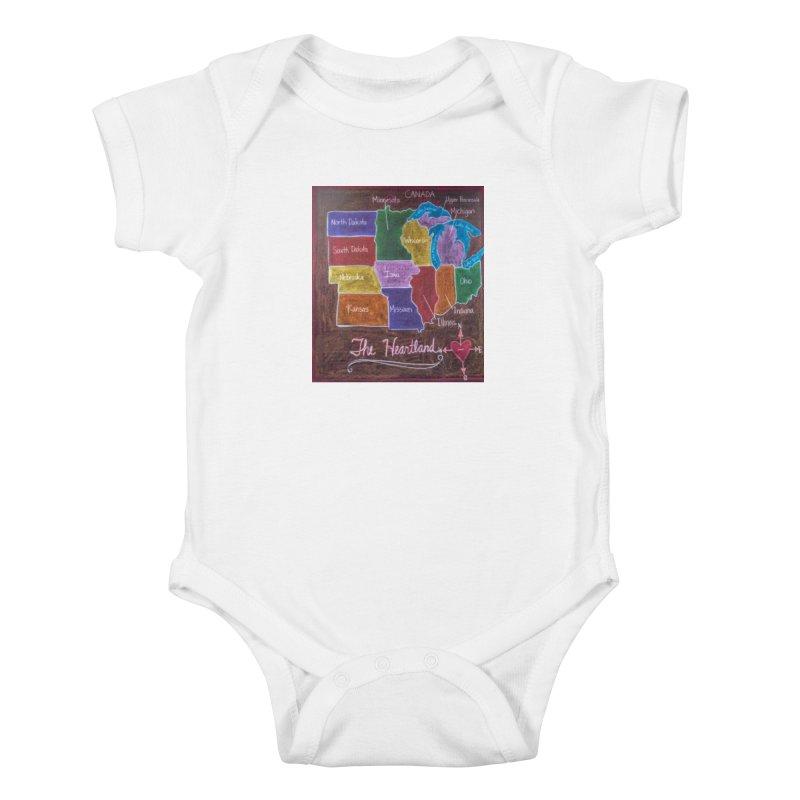 The Heartland Kids Baby Bodysuit by brusling's Artist Shop