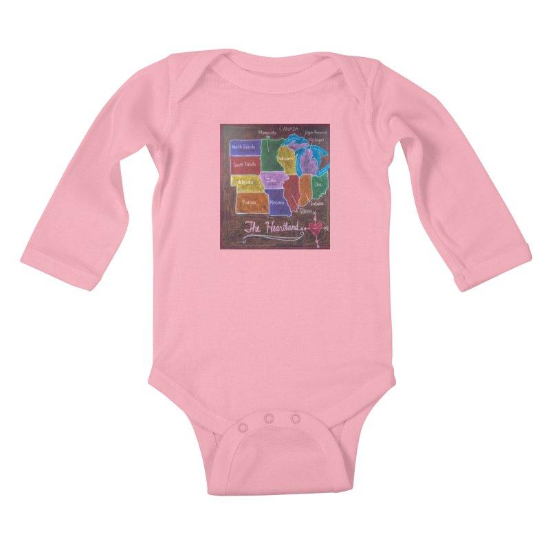 The Heartland Kids Baby Longsleeve Bodysuit by brusling's Artist Shop