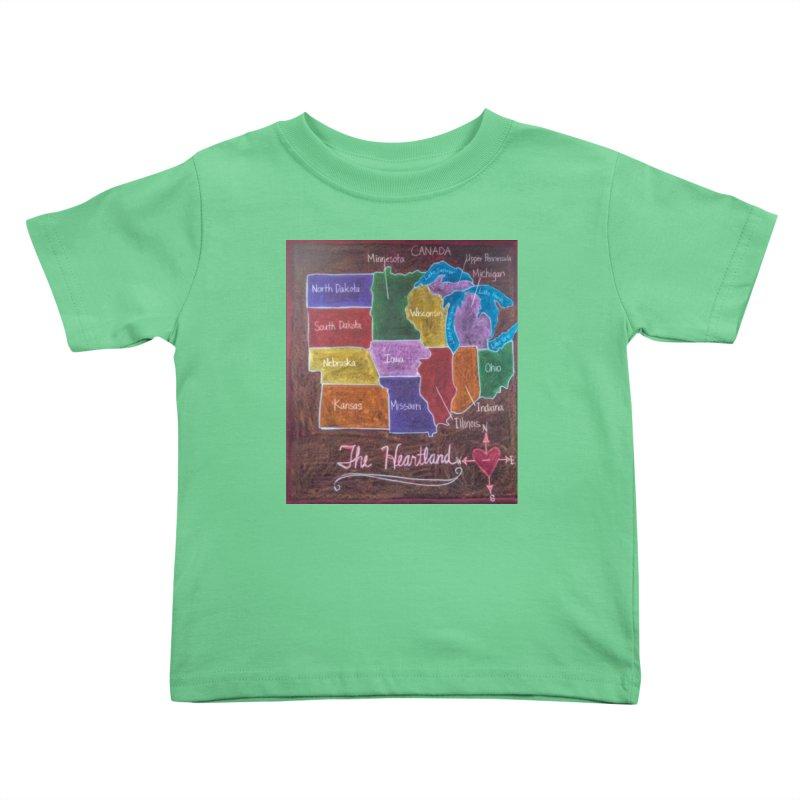 The Heartland Kids Toddler T-Shirt by brusling's Artist Shop