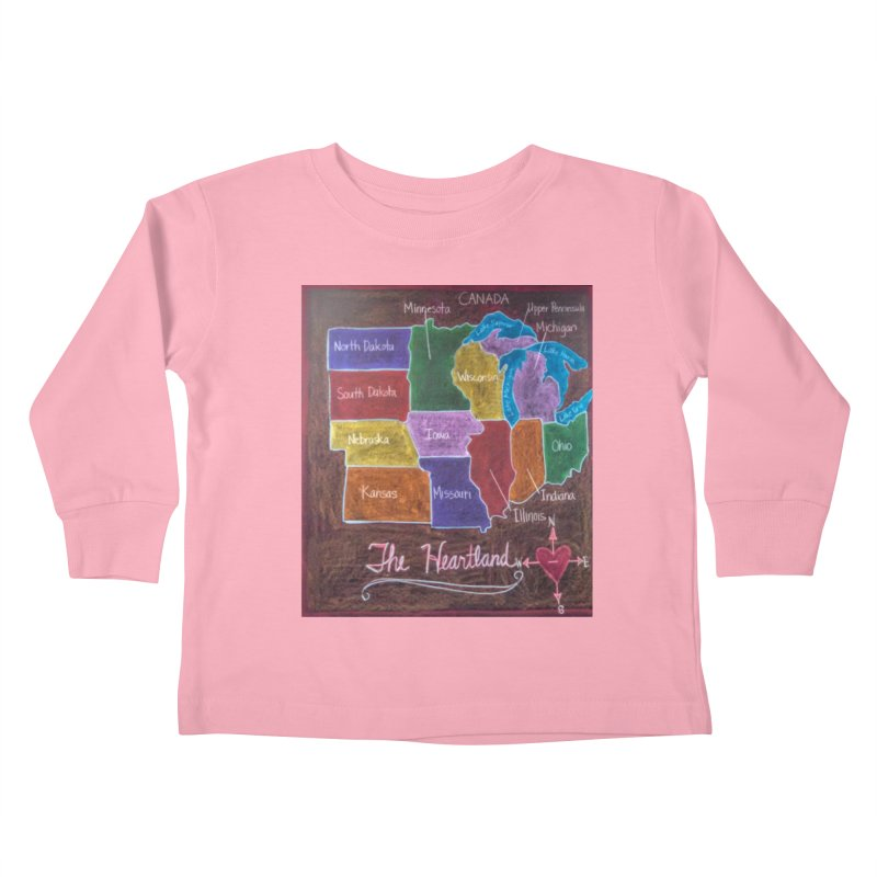 The Heartland Kids Toddler Longsleeve T-Shirt by brusling's Artist Shop